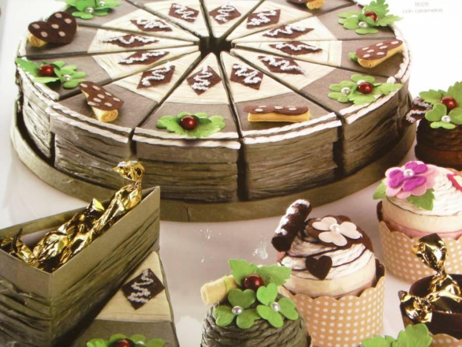 Porciones y pastelitos para caramelos