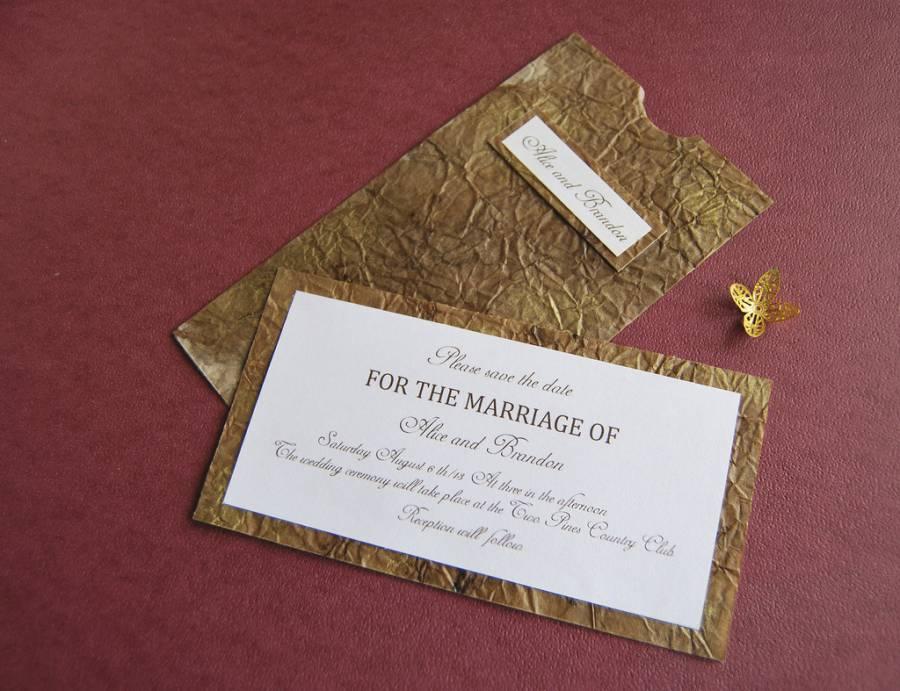 Invitación de papel envejecido