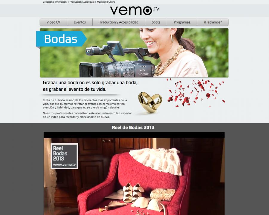 Página web: reel de bodas