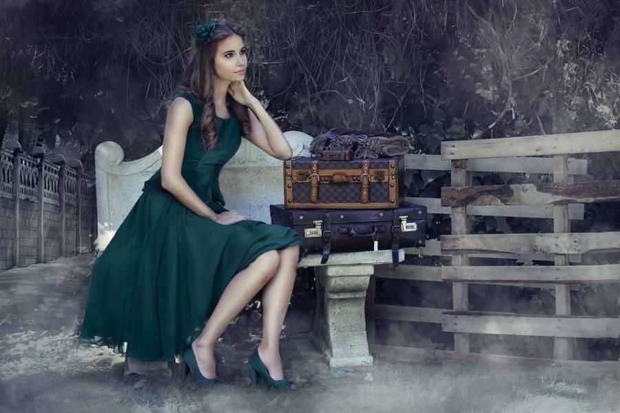 Vestido Terspicore verde