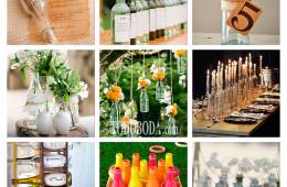 Nueve ideas para usar botes y botellas en tu boda