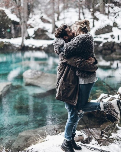 Amantes del frío: luna de miel alejados de la playa