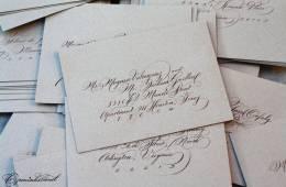 Caligrafía en las bodas