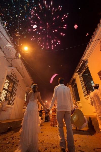 Fuegos artificiales en tu boda