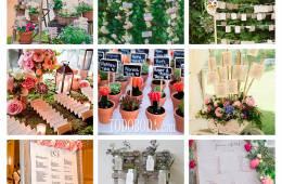 Flores en tu seating plan y en tu boda