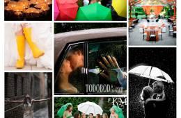 Inspiración para bodas con previsión de lluvia