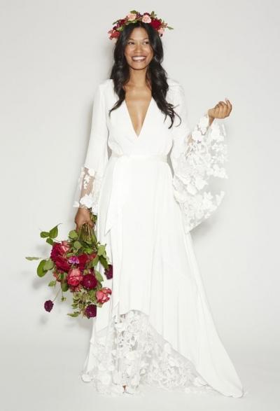 10 vestidos de novia bohemios. Estilo boho chic