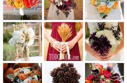 Nueve ramos de novia para una boda en otoño