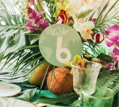 Inspiración tropical para tu boda