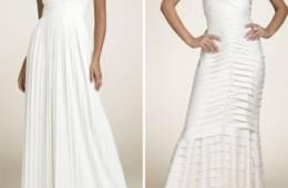 Vestidos de novia con faralados y pliegues
