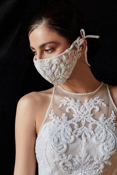 Mascarillas y pantallas protectoras para novias