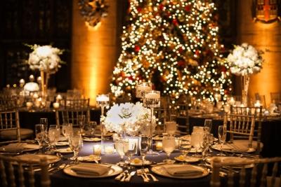 Decoración para bodas en Navidad