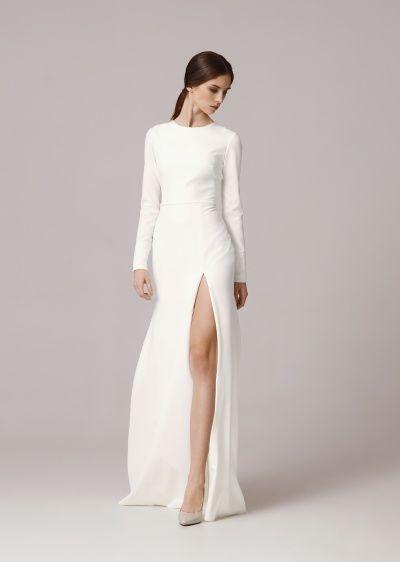 10 vestidos para novias minimalistas