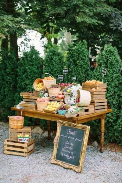 Estaciones temáticas de comida para tu boda