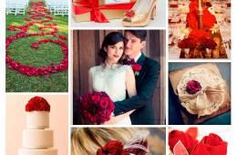 Inspiración para bodas con rosas rojas