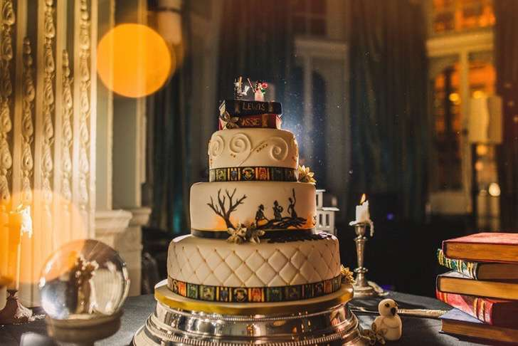 tarta boda harry potter