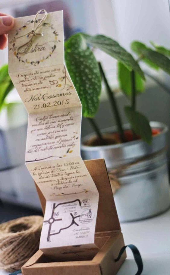invitacion de boda desplegable
