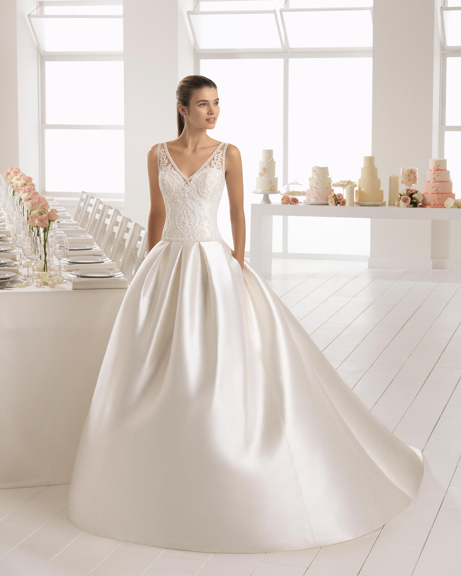 Vestidos de novia mikado