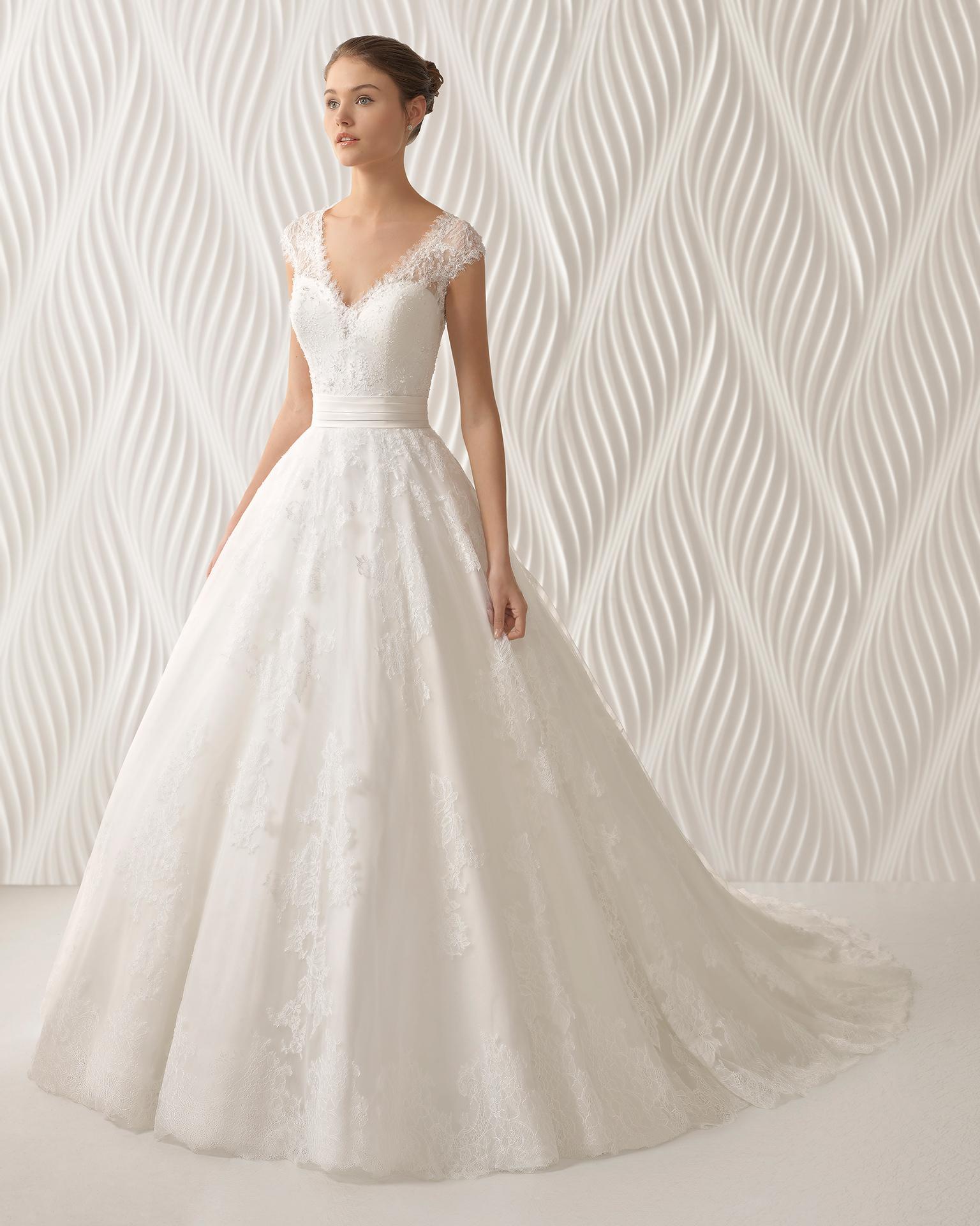 Vestidos novia baratos rosa clara