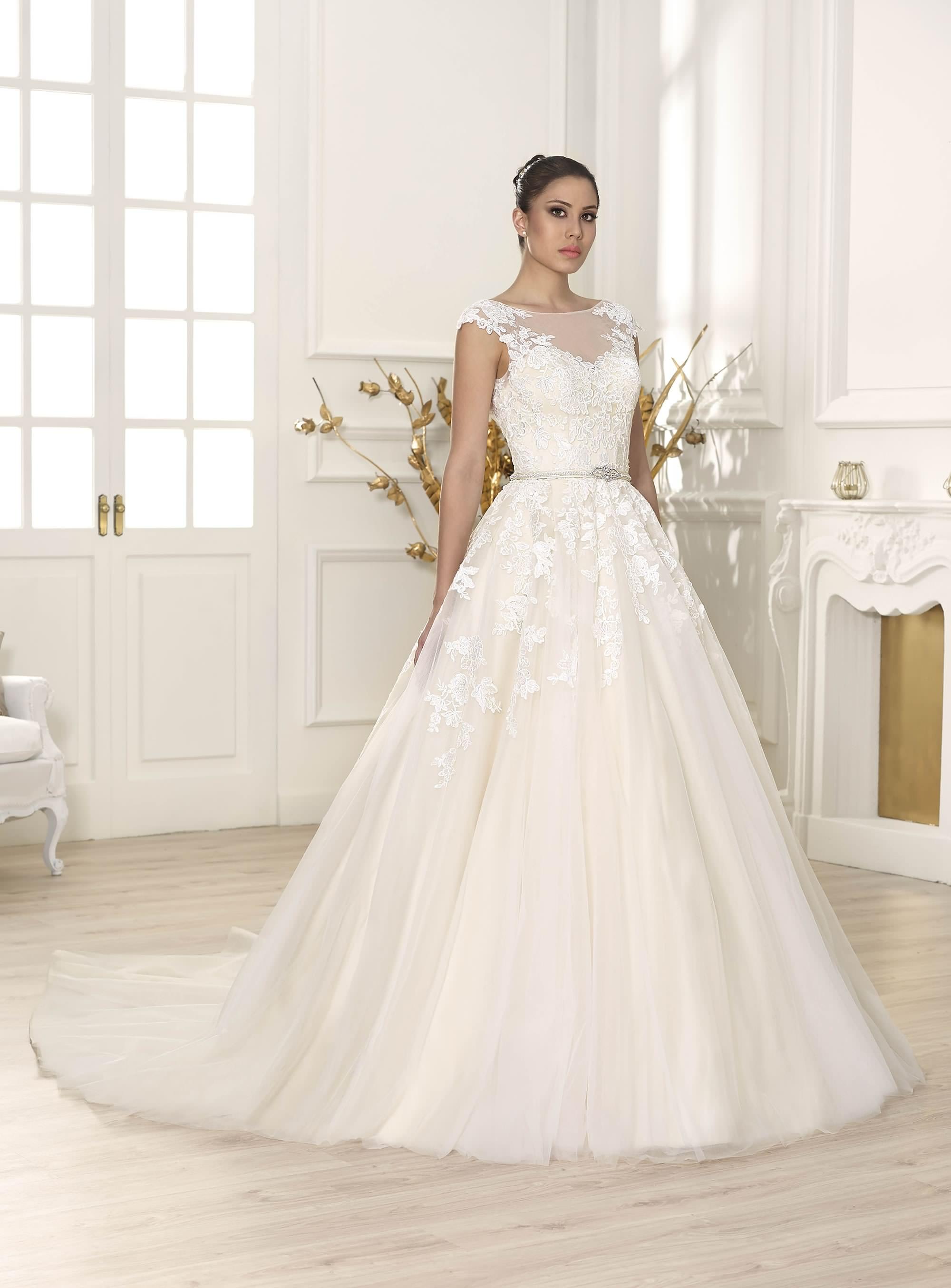 Falda de tul para vestido de novia