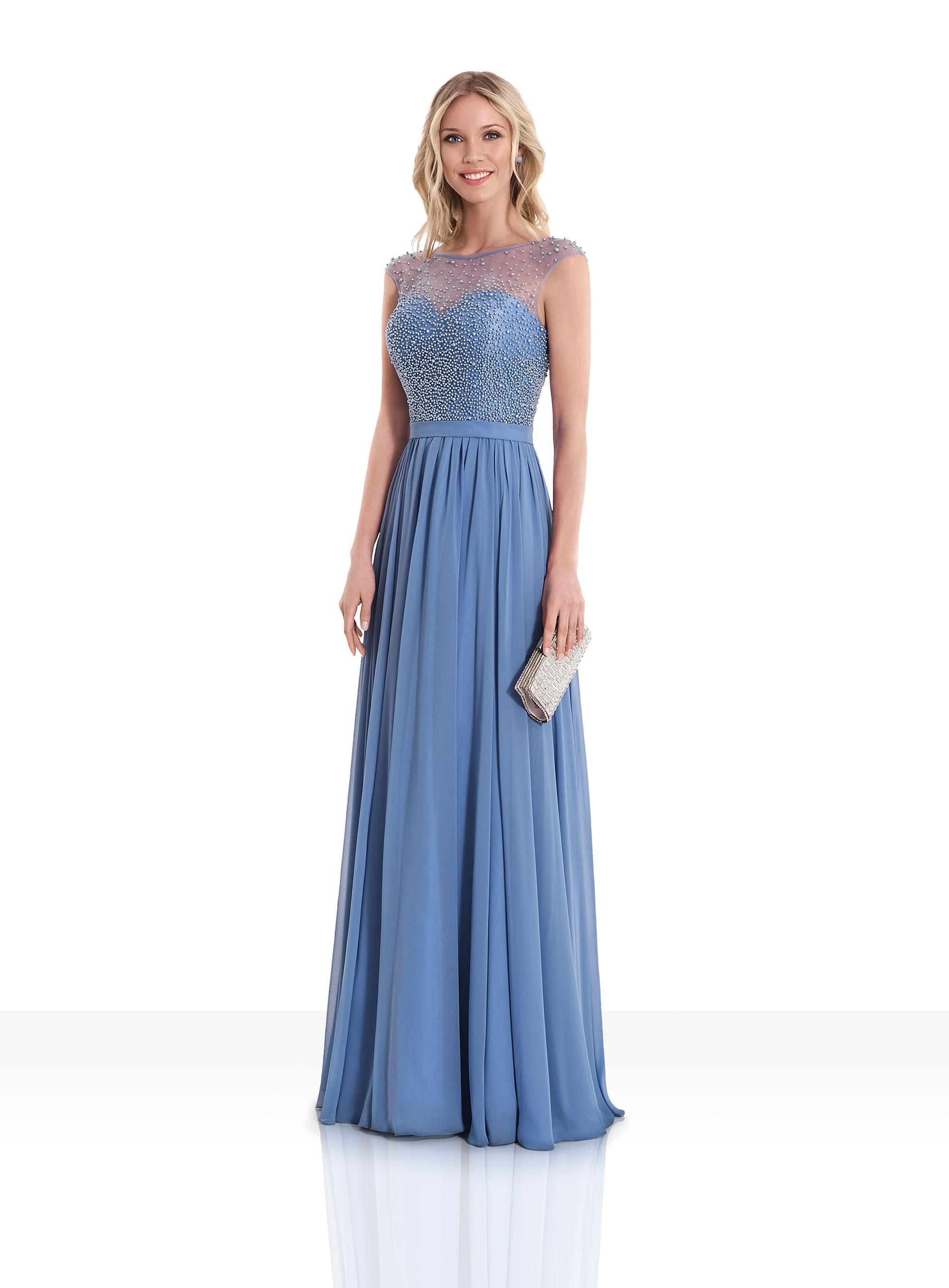 Vestidos de gala largos en color azul
