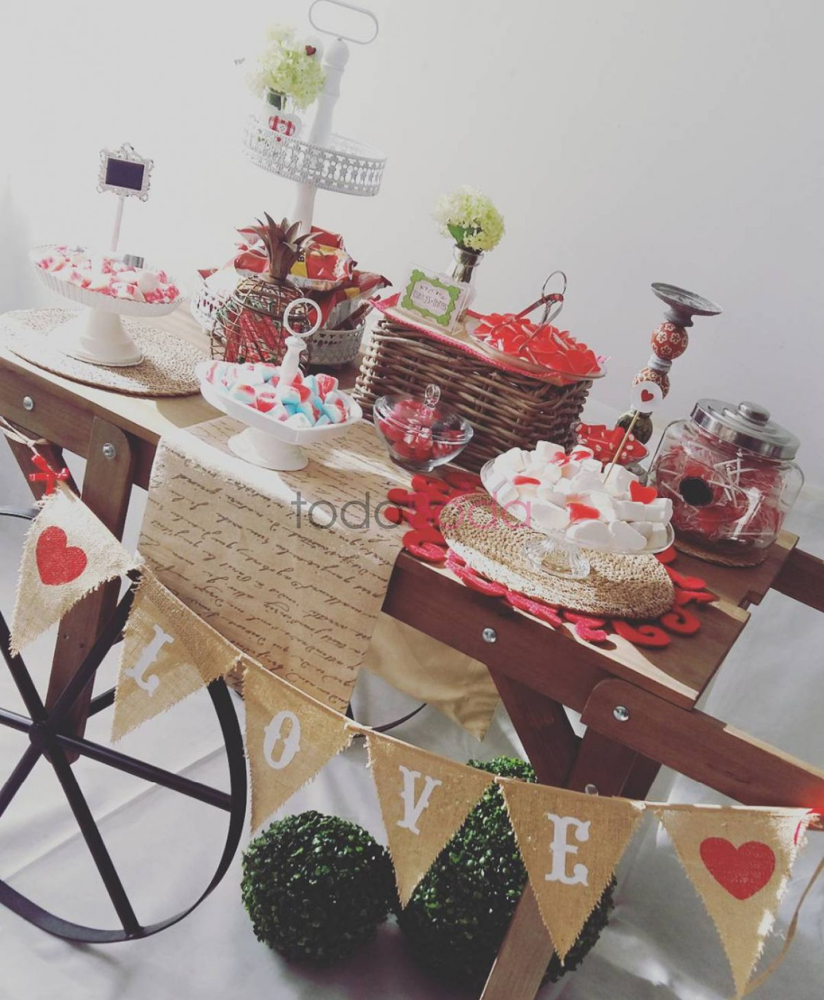Carrito Candy Bar - Love Party