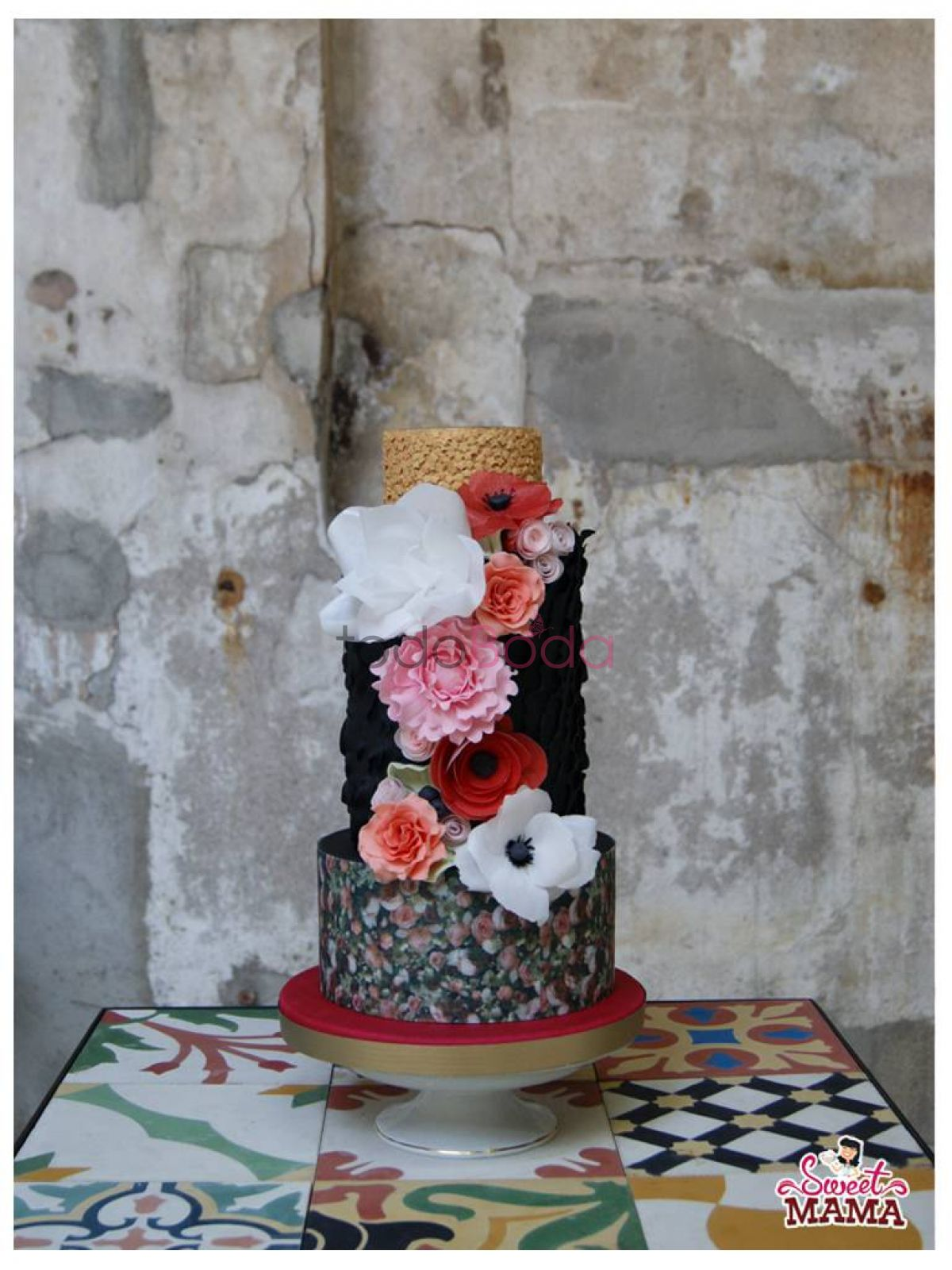 Baroque Bouquet Wedding Cake