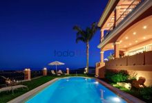 Pool and views from The Marbella Heights Boutique Hotel