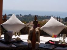 Sea view from The Marbella Heights Boutique Hotel