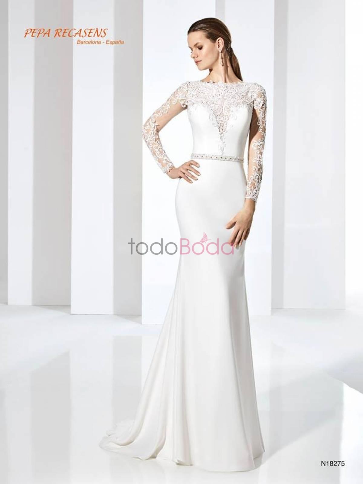 237944e37 Pepa Recansens. Vestidos de Novia Barcelona Madrid Valencia Andalucia.  Coleccion 13