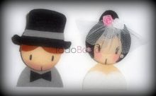Broches Caritas novios miniladies