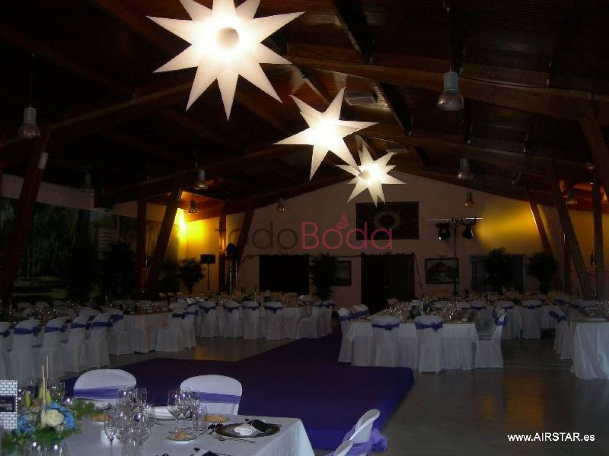 Tu boda en Airstar Space Lighting 2