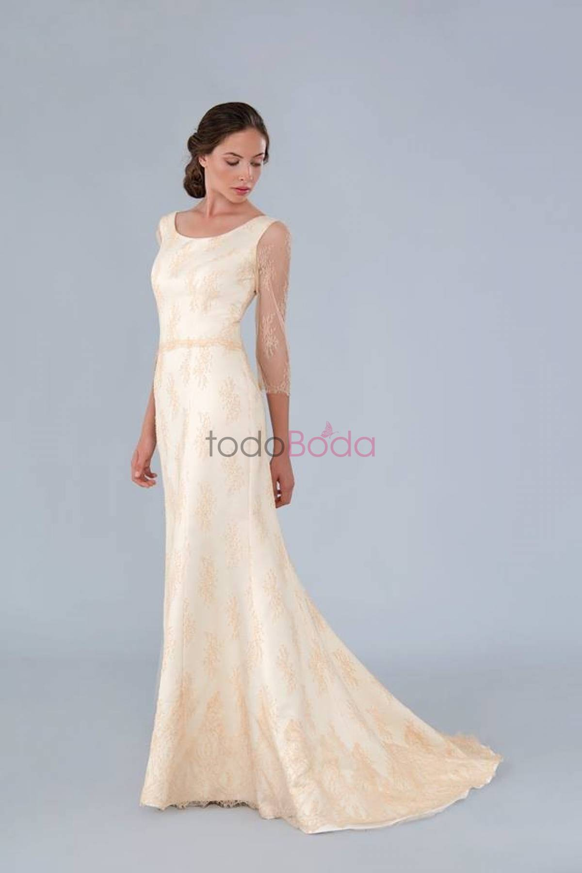 Fancy Vestido Novia Yolan Cris Segunda Mano Gift - All Wedding ...