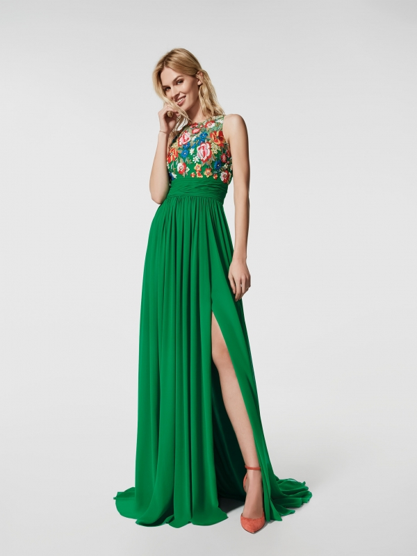 10 vestidos de fiesta green/natural